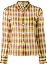 Miu Miu checked button-up shirt