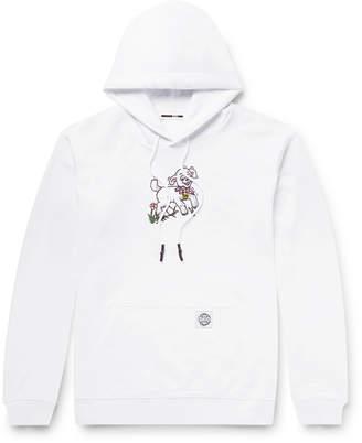 McQ Printed Fleece-Back Cotton-Jersey Hoodie