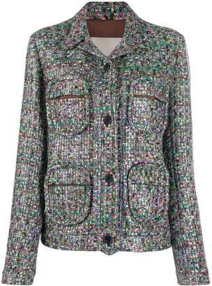 Marco De Vincenzo multi-pocket tweed jacket