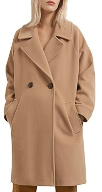 Gerard Darel Seth Oversized Double Breasted Wool Coat