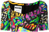 Moschino logo print cropped top