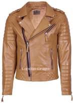 London Craze LondonCraze Men's Biker Leather Jacket M