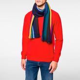 Paul Smith Men's Navy Wool Reversible Scarf