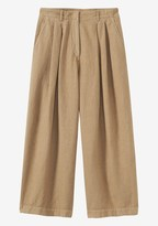 Toast Cotton Linen Cropped Trouser