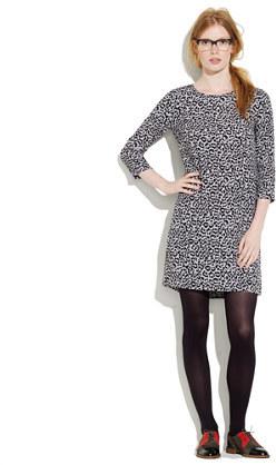 Madewell Leopard print shiftdress