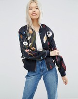 Weekday Print Bomber in Paradise Floral