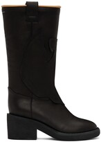 Thumbnail for your product : MM6 MAISON MARGIELA Black Mid Heel Western Boots