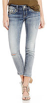 Vigoss Jeans Chelsea Slit Seam Distressed Stretch Ankle Skinny Jeans