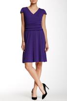 Nine West 10570382-X53 Surplice V Neck Jersey Dress