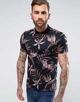 Asos Polo With All Over Floral Print