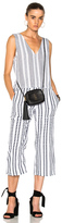 Lemlem Yeshi Jumpsuit in Geometric Print,Stripes,White.