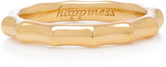 Monica Rich Kosann Poesy Engraved 18K Gold Ring