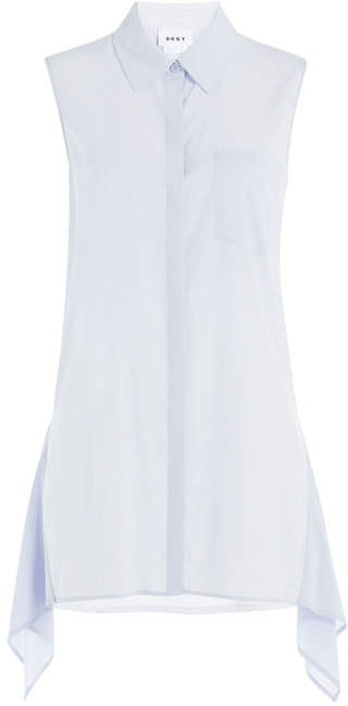 DKNY Silk Blouse with Asymmetric Hem