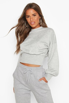 boohoo Petite Balloon Sleeve Sweat Top