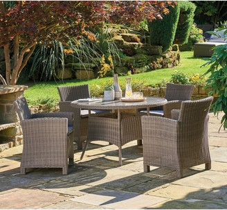 Kettler Palma 4-Seater Round Garden Dining Table & Chairs Set