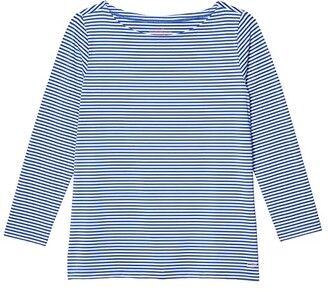 Vineyard Vines Striped Sankaty Simple Boatneck (Marlin) Women's Clothing