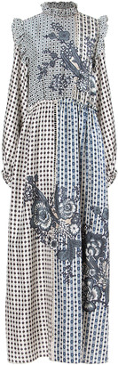 Biyan Ampera Embroidered Silk Dress