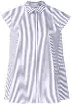 Aspesi striped cap sleeve swing shirt
