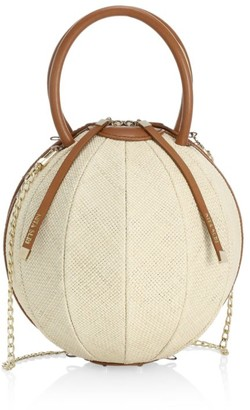 Nita Suri Pilo Sphere Raffia Top Handle Bag