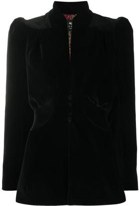 Etro Power Shoulder Satin Jacket