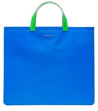 Comme des Garcons Fluorescent Leather Tote Bag - Blue Multi