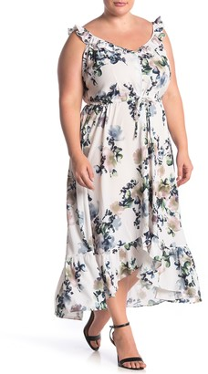 City Chic Glasshouse Floral Maxi Dress (Plus Size)
