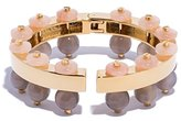 Lele Sadoughi Women's 14ct Gold Plated Exposed Hinged Slider Mineral Grey Bracelet