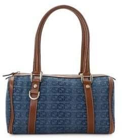 Gucci Vintage D-Ring Denim Shoulder Bag