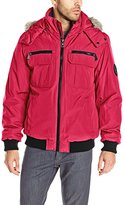Calvin Klein Men's Artic Bomber Jacket With Removable Hood