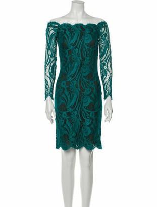 Emilio Pucci Lace Pattern Mini Dress Green