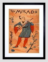 The Art Stop THEATRE MUSICAL MIKADO GILBER SULLIVAN NANKIPOO UK VINTAGE AD ART PRINT B12X1334