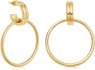 Missoma Ancien Frontal Hoop Earrings