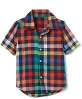Gap Multi check short sleeve shirt