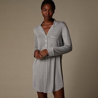 Love & Lore Love And Lore Piped Shirt Sleep Shirt Heather Grey X-Large