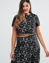 Truly You Co-Ord Lace Crop Top