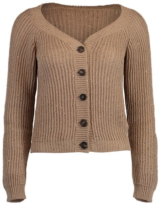 Brunello Cucinelli Almond Knit Cardigan