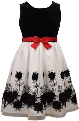Bonnie Jean Girl's 7-16 Mockneck Velvet Dress