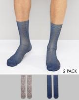 Asos Socks With Leopard Print Design 2 Pack