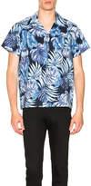 Naked & Famous Denim Tropical Leaves Aloha Shirt