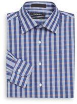 Saks Fifth Avenue Slim-Fit Plaid Check Dress Shirt