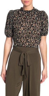 Socialite Floral Puff Sleeve Blouse