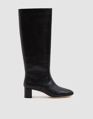 Loeffler Randall Women's Gia Almond Toe Tall Boot in Black, Size 7 | Leather