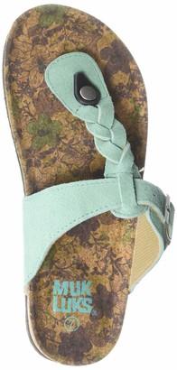 Muk Luks Women's Marsha Terra Turf-Mint Sandal 10 M US