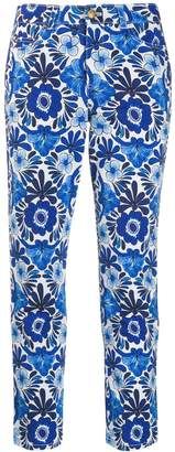 Escada floral print cropped jeans