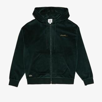 Lacoste Men's LIVE Signature Hooded Velvet Zip Sweatshirt