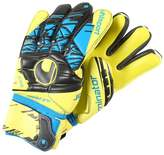 Uhlsport ELIMINATOR ABSOLUTGRIP Goalkeeping gloves lite fluo gelb/schwarz/hydro blau
