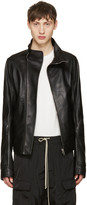 Rick Owens Black Leather Mollinos Biker Jacket