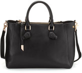 Foley + Corinna Claire Leather Satchel Bag, Black