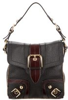 Dolce & Gabbana Snakeskin-Trimmed Shoulder Bag