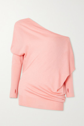Tom Ford One-shoulder Cashmere And Silk-blend Sweater - Pink